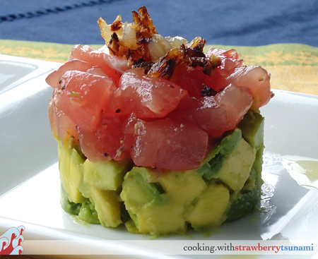 Ahi Tuna Tartare with Avocado | Cooking with Strawberry Tsunami