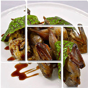 Quail with Glutinous Rice Shape Cluster