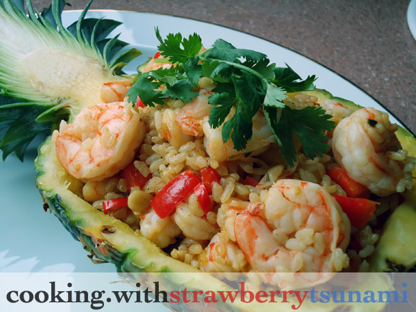 Pineapple Shrimp Fried Rice | Cooking with Strawberry Tsunami