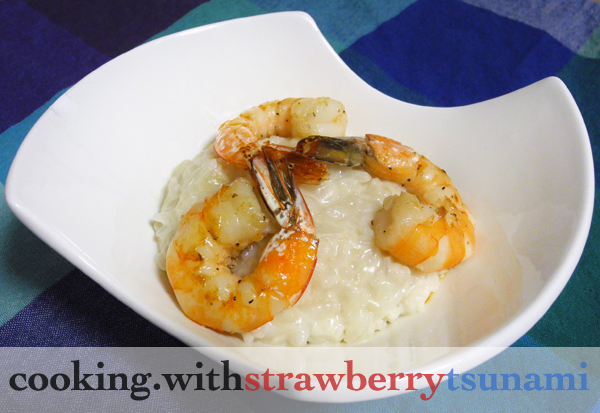 Seared Shrimp with Savory Coconut Risotto | Cooking with Strawberry ...